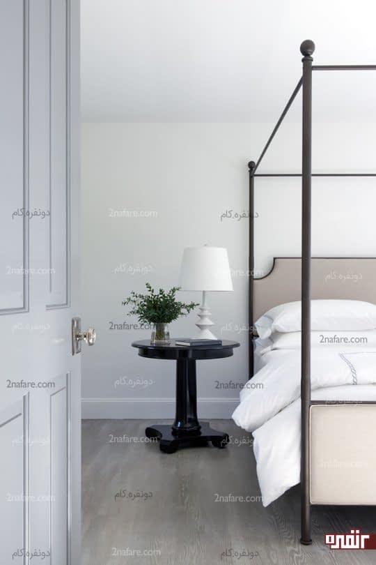 انتخاب طرح و رنگهای ملایم برای دکور تخت خواب