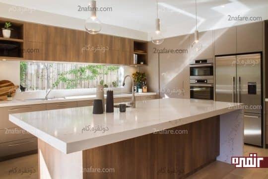 انتخاب متریال جدید برای پوشش سطح جزیره در آشپزخانه