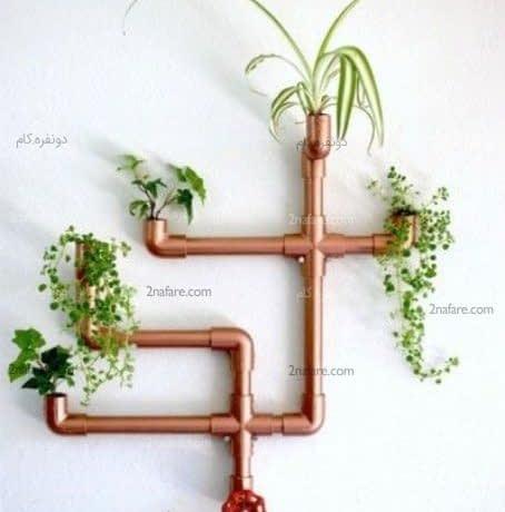 ایده جذاب تزیین دکور دیوار با گل و گیاه