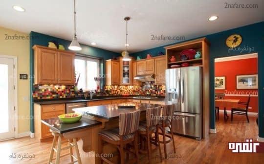 برای ترکیب رنگ ها کل دکوراسیون خانه را مد نظر قرار دهید