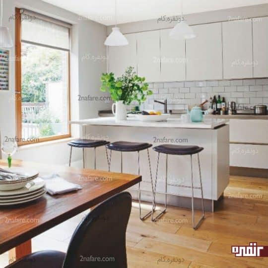 به فضای آشپزخانه در طراحی توجه کنید