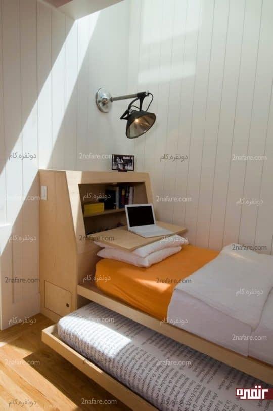 تخت های کشویی برای اتاق خواب های کوچک