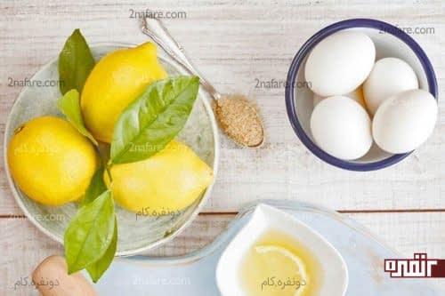 تخم مرغ و لیمو برای درخشندگی پوست