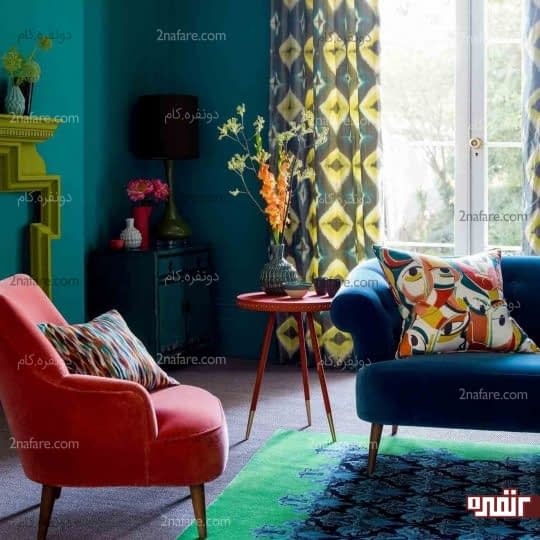 ترکیب رنگ ها و رعایت کنتراست بین آنها در فضاهای داخلی