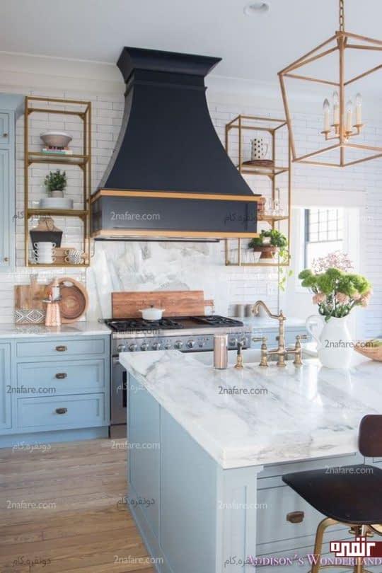 ترکیب فلزات مختلف در دکوراسیون داخلی آشپزخانه