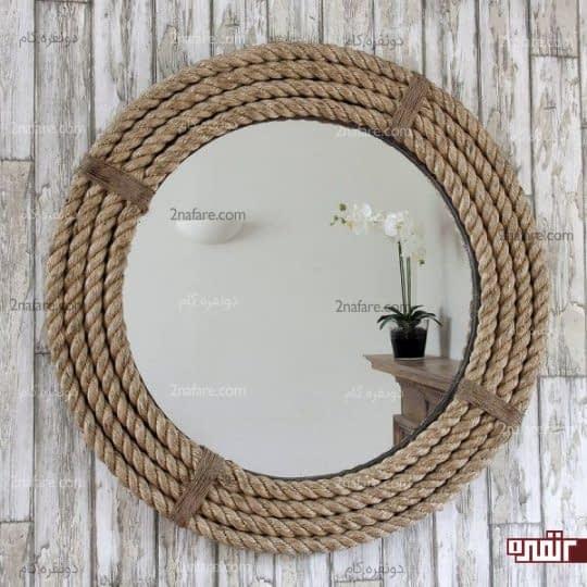 تزیین آینه با طناب