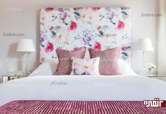 تزیین اتاق خواب با پارچه های چاپ گلدار و زیبا