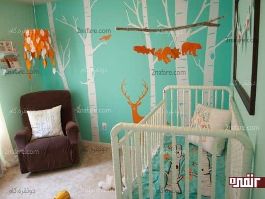 تزیین اتاق کودکان با طرح های زیبا و فانتزی از جنگل