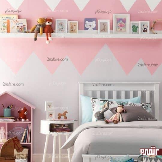 تزیین جذاب دیوار اتاق کودک