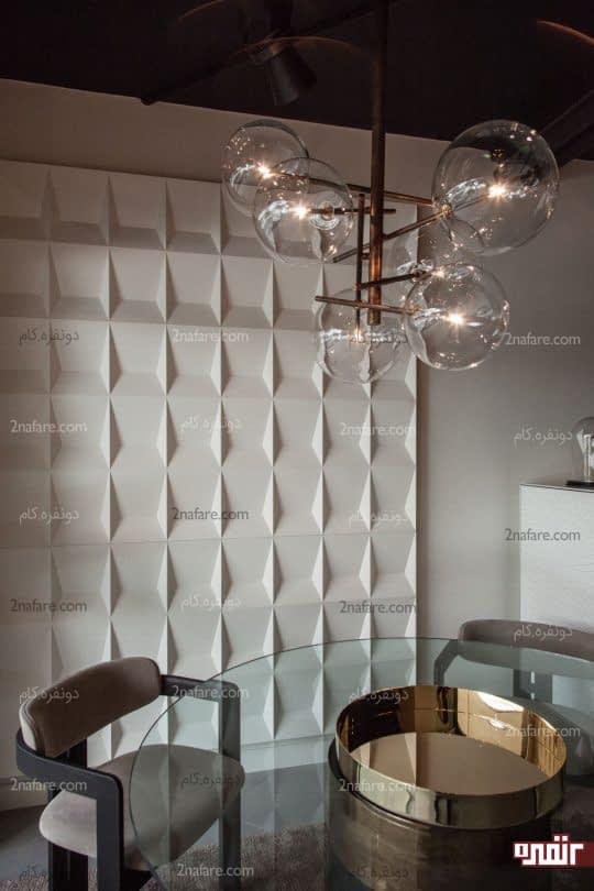 تزیین دیوار با پنل های سه بعدی برجسته