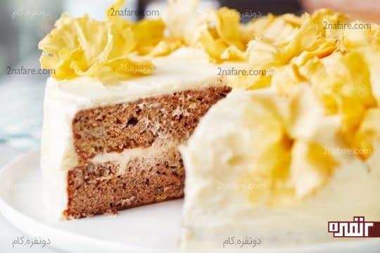 تزیین کیک با آناناس خشک شده