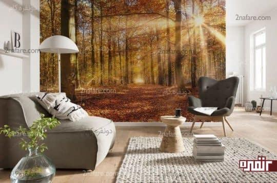 تصویر زیبای طبیعت برای ایجاد جلوه ی بیشتر در فضاهای داخلی
