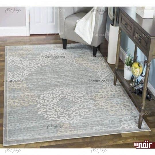 تفکیک دکور میزکنسول در نشیمن با انتخاب فرش مناسب