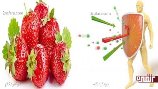 توت فرنگی ایمنی بدن را تقویت می کند