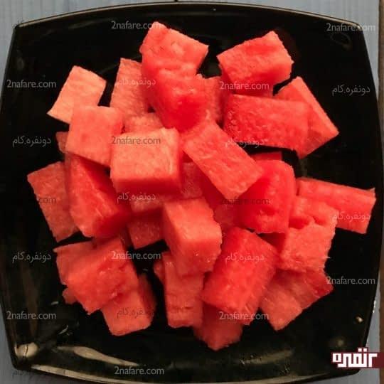 خورد کردن هندوانه