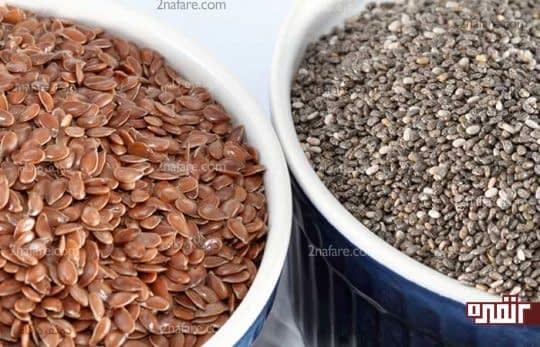 دانه های کتان سرشار از اسیدهای چرب امگا 3