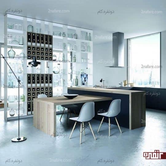 دکوراسیون آشپزخانه با پلان باز