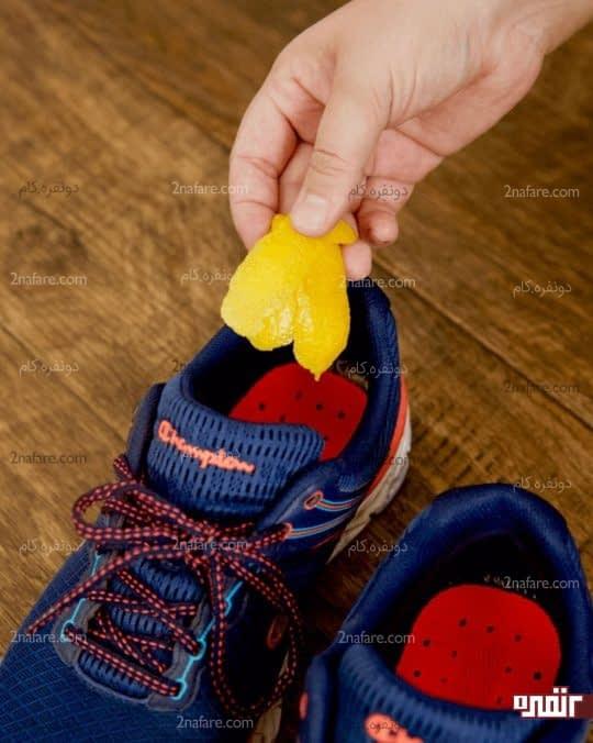 رفع بوی کفش با پوست لیمو