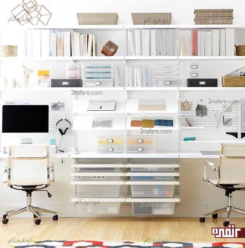 Extraordinary Small Home Office Shelving Ideas: ایده های کاربردی برای مرتب کردن اتاق کار • دونفره