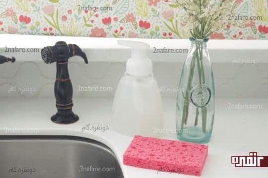 ساخت فوم دستشویی خانگی