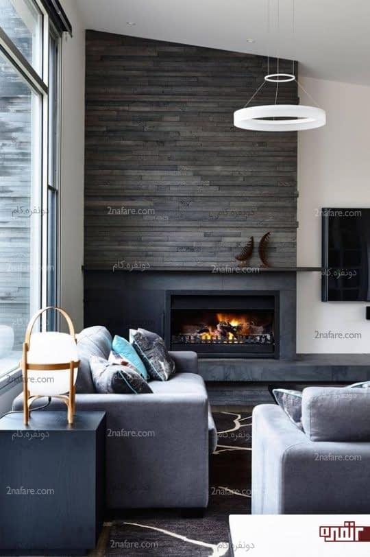 شومینه ای زیبا برای تزیین خانه مدرن