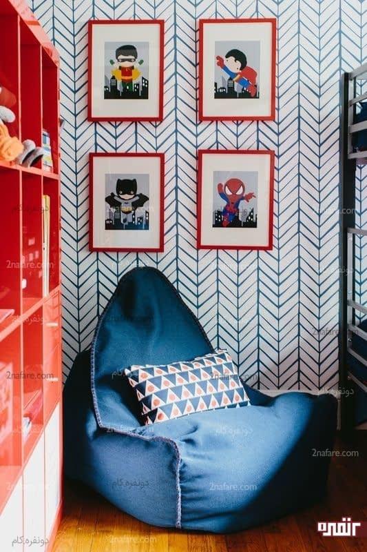صندلی کیسه ای در دکوراسیون داخلی