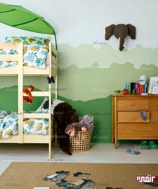طراحی اتاق کودک به شکل جنگل