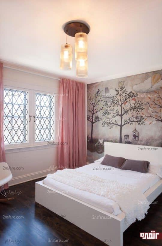 طراحی فانتزی صحنه ی جنگل برای تزیین اتاق خواب