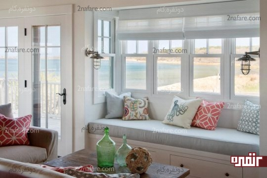 طراحی فضای طاقچه پنجره در خانه های مدرن