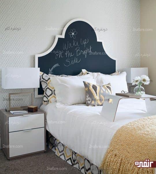 طراحی قاب تخت به صورت تخته سیاه