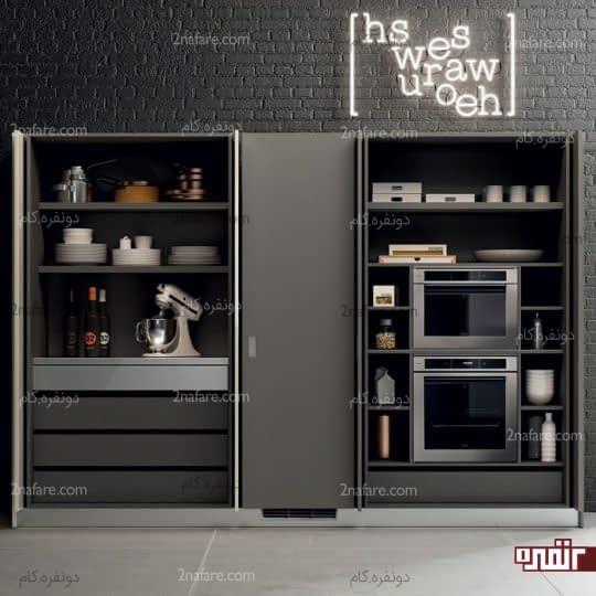 طراحی مخفی کابینت ها و تجهیزات آشپزخانه