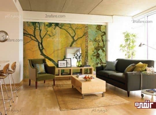 طرح جنگل در تزیین دکوراسیون داخلی فضاها