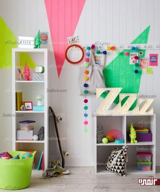 طرح های هندسی و رنگی برای تزیین دیوارها