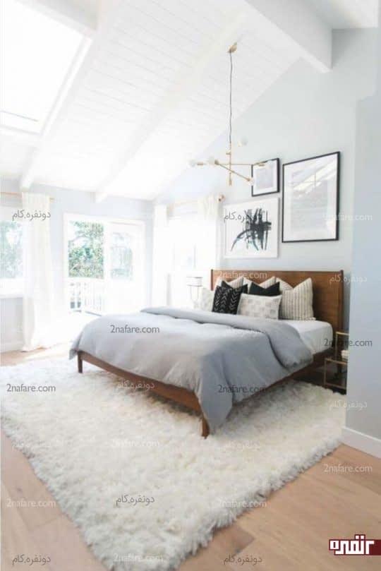فرش خزدار سفید