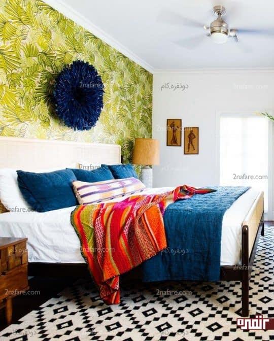 فرش سیاه و سفید مخصوص اتاق خوابهای رنگی