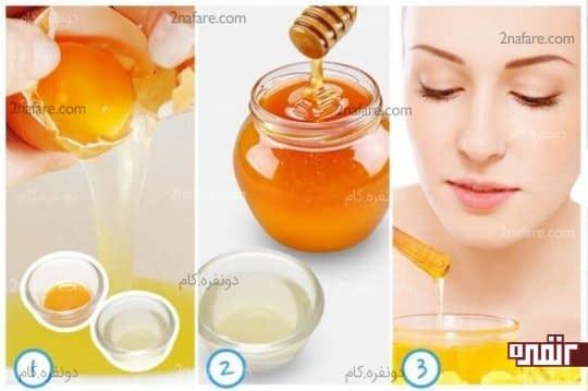 ماسک زرده تخم مرغ و عسل برای رطوبت پوست