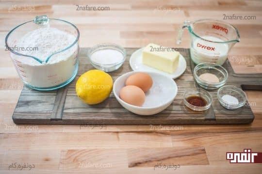 مواد لازم برای تهیه رول لیمویی