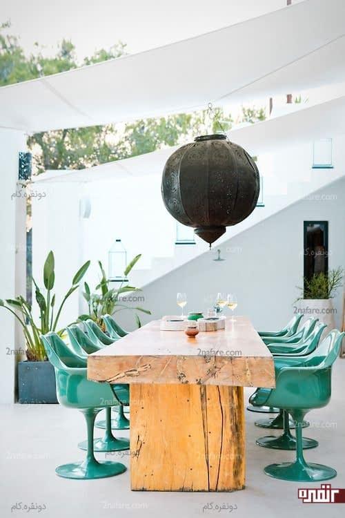 میز و صندلی های متفاوت ناهارخوری