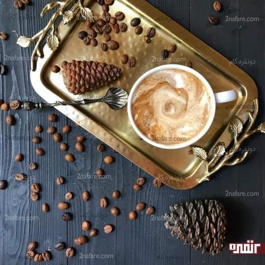 نوشیدنی قهوه با بستنی