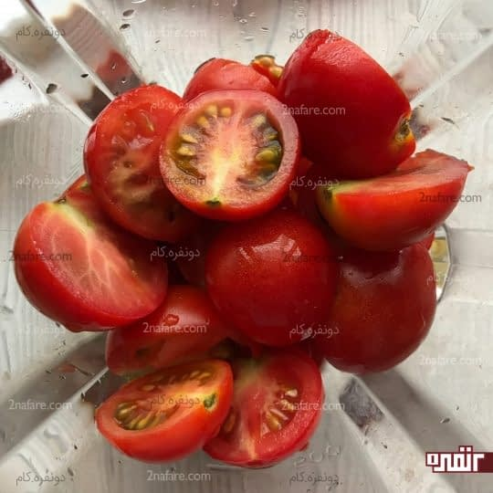 پوره کردن گوجه