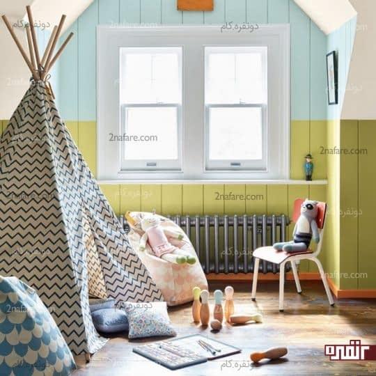 چادر مخروطی برای تزیین زیبای اتاق کودک