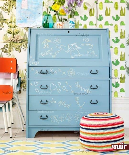 کاربرد الگوهای فانتزی و رنگ های شاد در اتاق کودکان