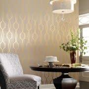 کاغذ دیواری متالیک با طرح هندسی طلایی