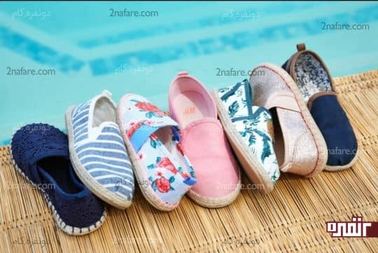 کفش های مختلفی مخصوص تابستان و برای کودکان در بازار وجود داره