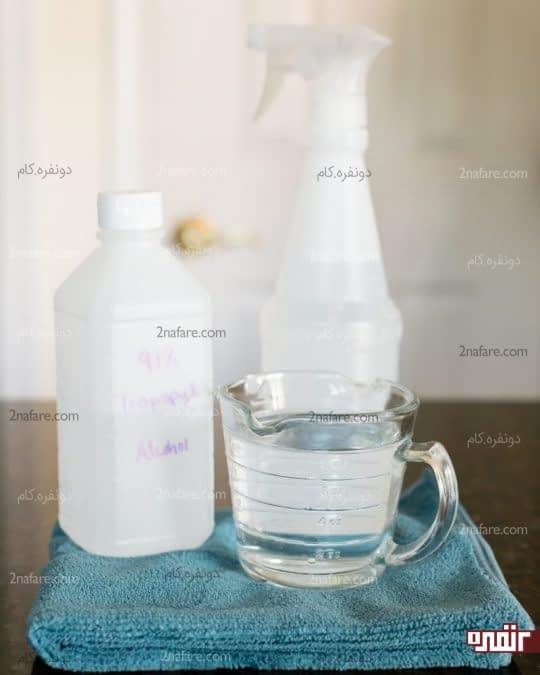 ترکیب مقادیر مساوی آب و الکل