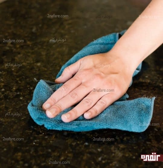 خشک کردن سطح گرانیتی
