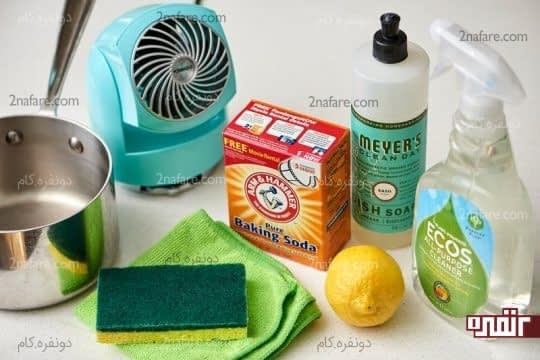 وسایل مورد نیاز برای از بین بردن بوی سوختگی