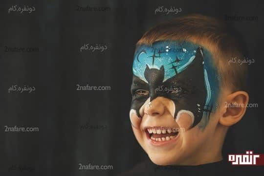 نقاشی بتمن روی صورت
