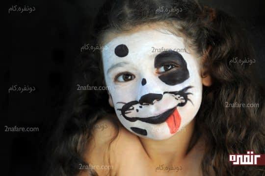 نقاشی سگ روی صورت