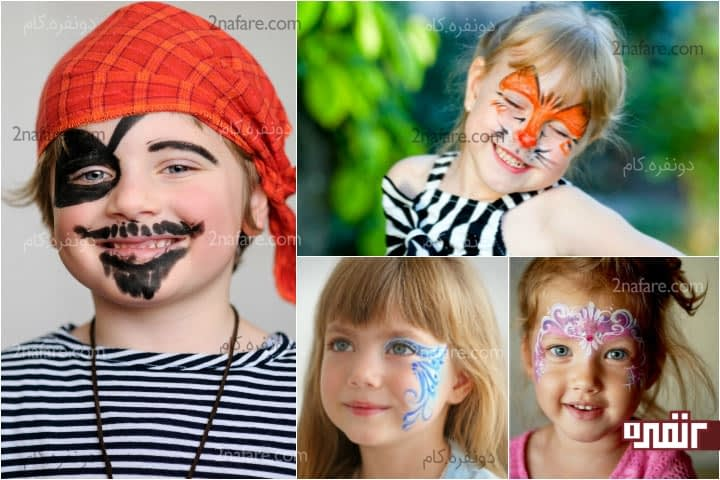 13 ایده برای طراحی روی صورت کودکان